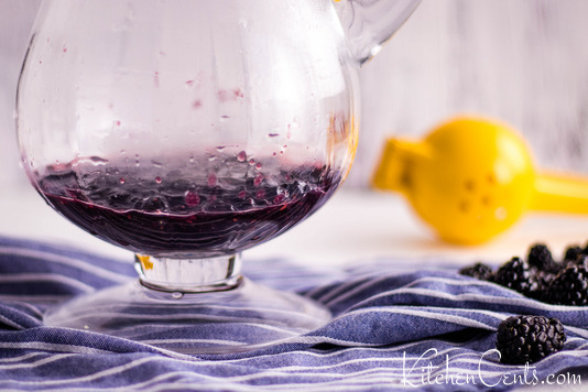 Easy Homemade Blackberry Lemonade Recipe start with blackberry puree | Kitchen Cents