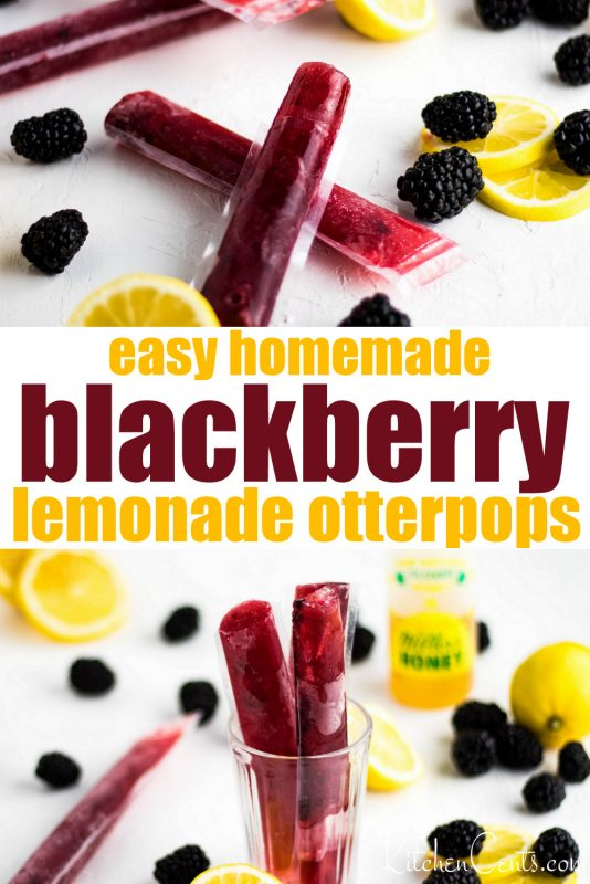 Easy Homemade Blackberry Lemonade Popsicle Recipe | Kitchen Cents