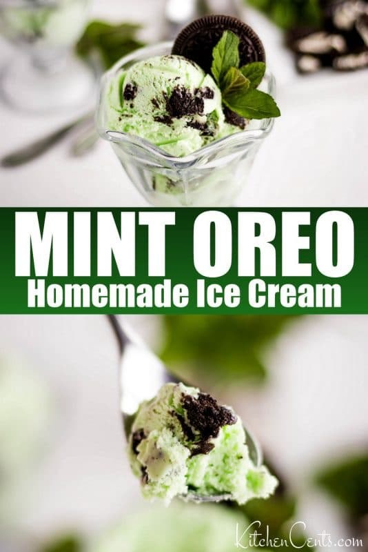 Easy Mint Oreo Ice Cream recipe | Kitchen Cents