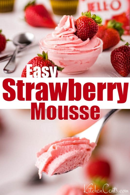 Easy Strawberry Mousse made with Jello | Kitchen Cents