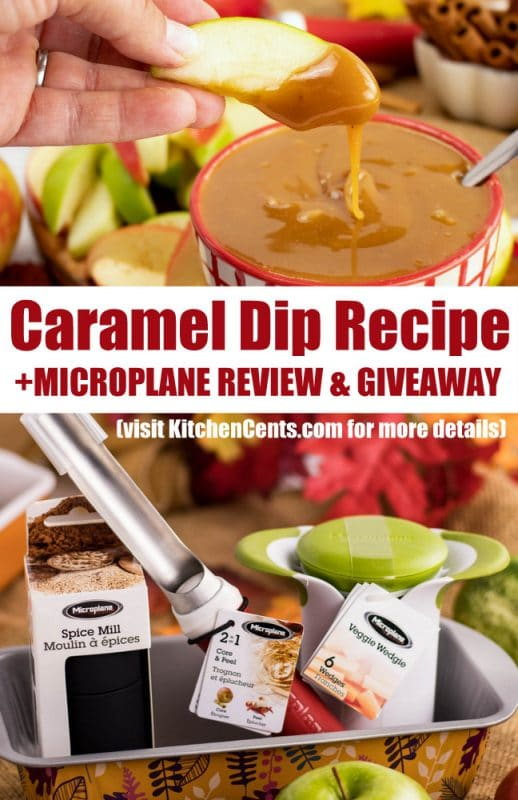Easy Caramel Dip with Apples | Microplane Giveaway | Instant Pot Caramel Dip | Quick and Easy Fall Fav | Caramel Apples | Enter to Win! | Kitchen Cents