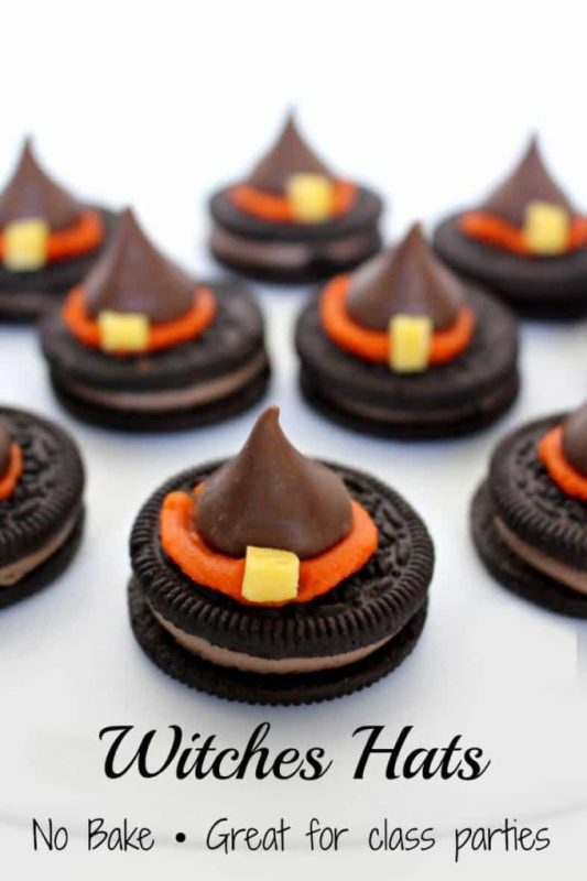 Witches Hats | 21+ Easy No Bake Halloween Treats | Kitchen Cents