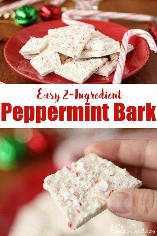 Easy Peppermint Bark Candy cane bark | Kitchen Cents