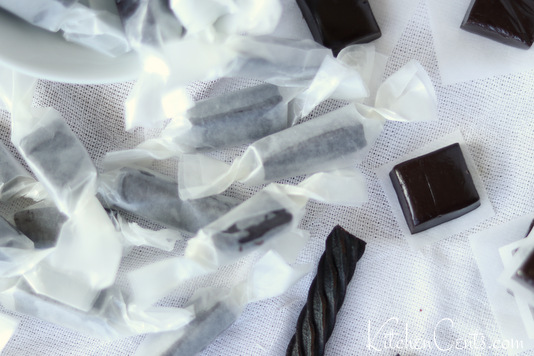Homemade Anise Black Licorice Caramels | Kitchen Cents