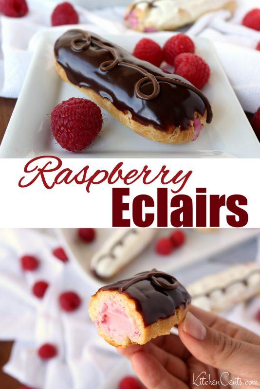 The BEST Raspberry Elcairs | Kitchen Cents