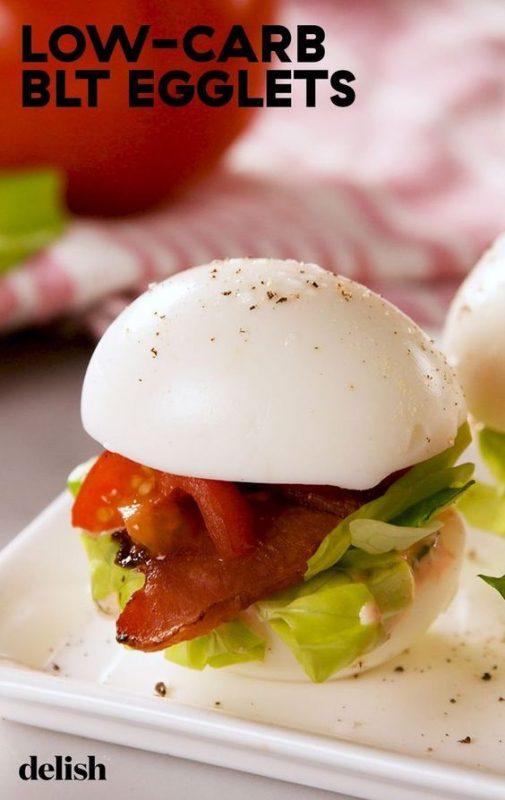 BLT Egglets | 21+ Low-Carb Snacks