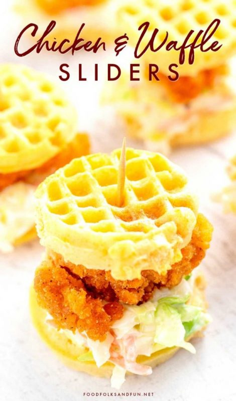 Chicken and Waffle Sliders | 29+ Delicious Superbowl Party Foods