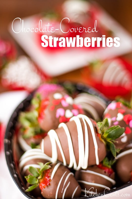 Lovely Easy Chocolate-Covered Strawberries perfect for Valentine's | Kitchen Cents