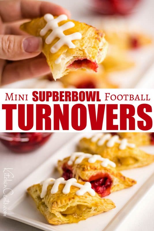 Easy Mini Turnovers perfect for your Superbowl party | Kitchen Cents
