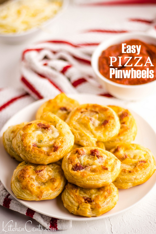 Easy Pizza Pinwheels | Kitchen Cents
