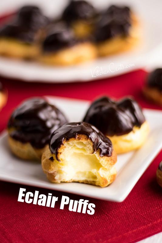 Easy Eclair Puffs | Kitchen Cents