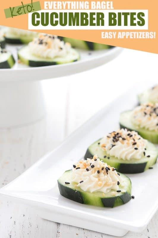 Everything Bagel Cucumber Bites | 21+ Low-Carb Snacks