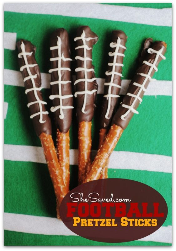 Football Pretzel Sticks | 29+ Delicious Superbowl Party Foods