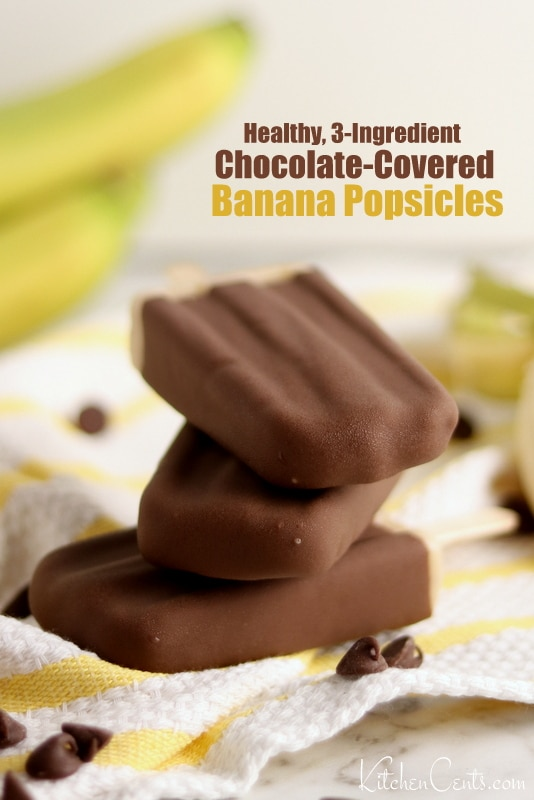 Healthy Chocolate Covered Banana Popsicles | 21+ Healthy Frozen Snacks | Kitchen Cents