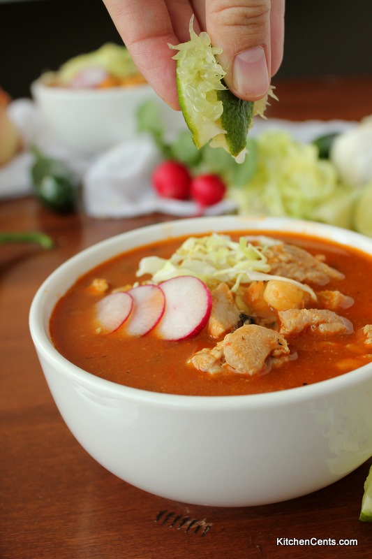 LARGE-Batch Spicy Red Mexican Pozole | 29+ Delicious Superbowl Party Foods