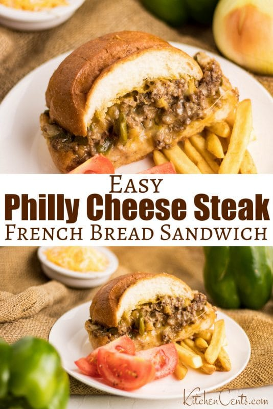 Large Philly Cheese Steak Sandwich | 29+ Delicious Superbowl Party Foods