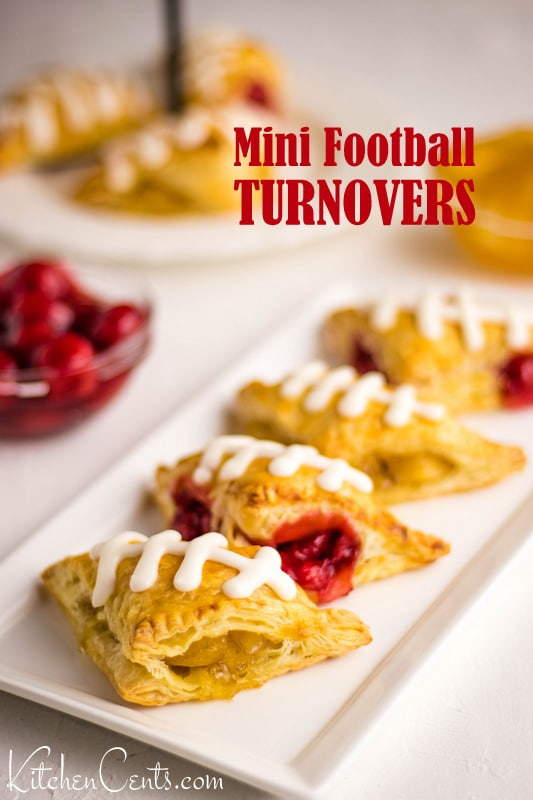 Mini Football Turnovers | 29+ Delicious Superbowl Party Foods