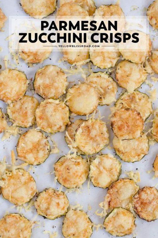 Parmesan Zucchini Crisps | 21+ Low-Carb Snacks