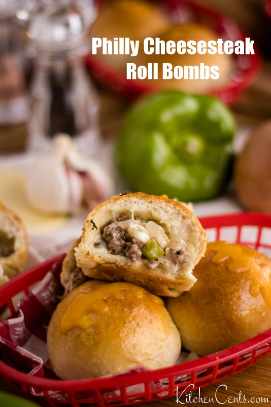 Philly Cheesesteak Rolls | 29+ Delicious Superbowl Party Foods