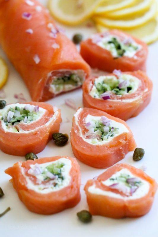 Smoked Salmon Pinwheels | 21+ Low-Carb Snacks
