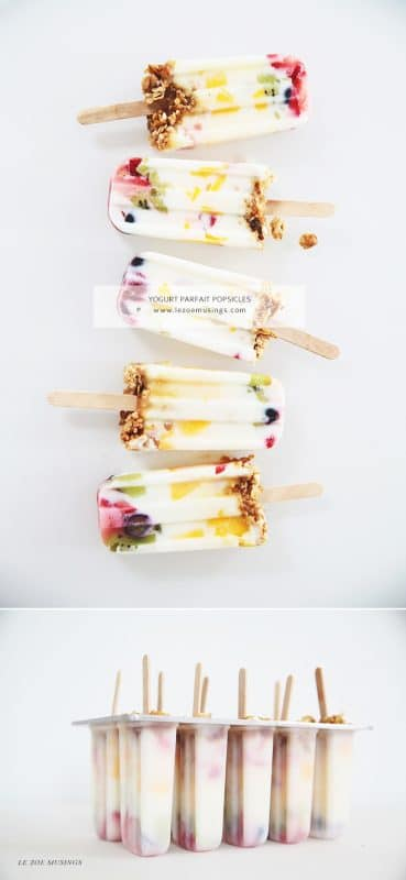 Yogurt Parfait Popsicles | 21+ Healthy Frozen Snacks | Kitchen Cents