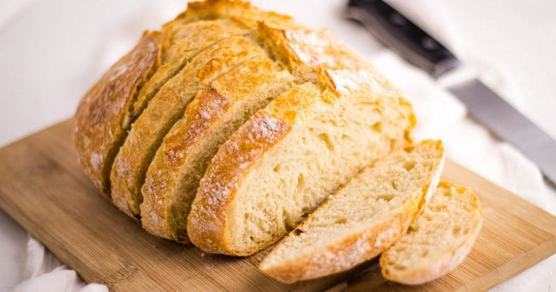 Easy no knead bread Artisan Bread Recipe | Kitchen Cents