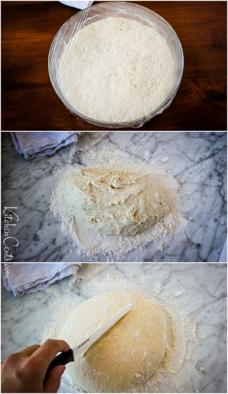 Getting ready to bake easy no knead Artisan Bread Recipe | Kitchen Cents