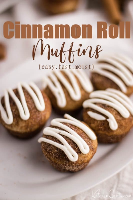 Sourdough Cinnamon Roll Muffins | Kitchen Cents