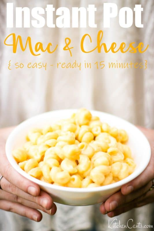 Easy Instant Pot Mac and Cheese ready in 15 minutes | Kitchen Cents