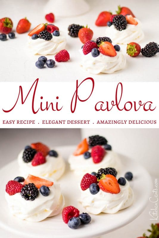 Mini Pavlova Cookies with berries | Kitchen Cents