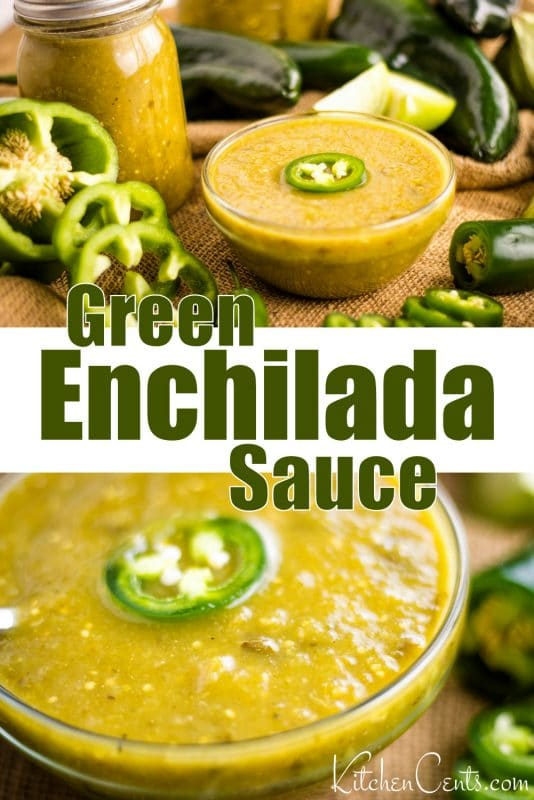 The Best Roasted Green Enchilada Sauce | Kitchen Cents