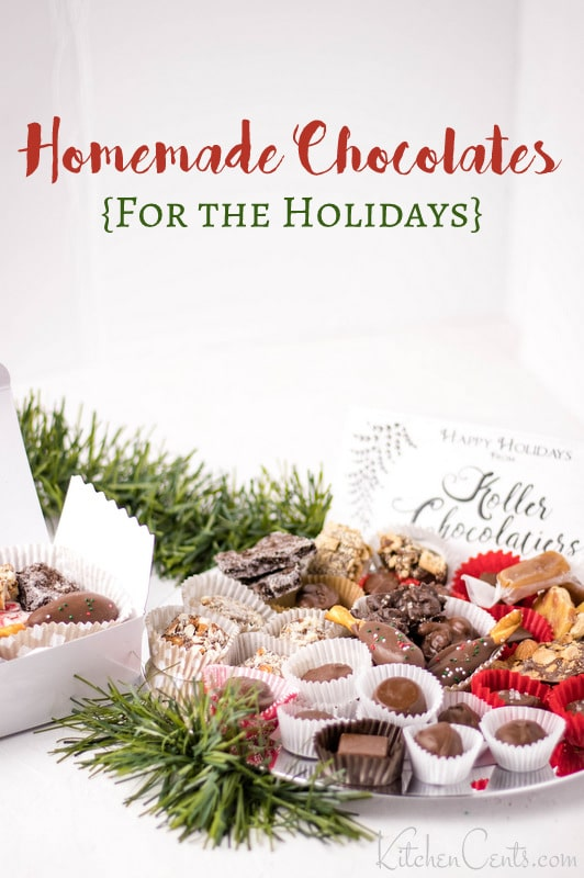 The perfect edible christmas gift homemade a box of homemade chocolates and candies | Kitchen Cents