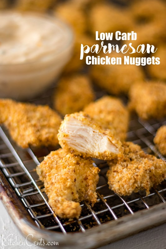 Easy Low Carb Parmesan Chicken Nuggets Recipe | Kitchen Cents