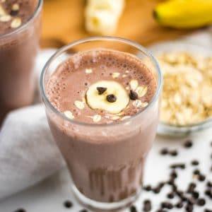 Chocolate Banana Breakfast Protein Shake with oatmeal | Kitchen Cents