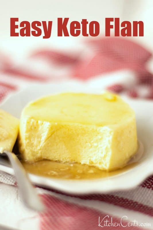 Easy Keto Flan low sugar dessert flavored with maple | Kitchen Cents