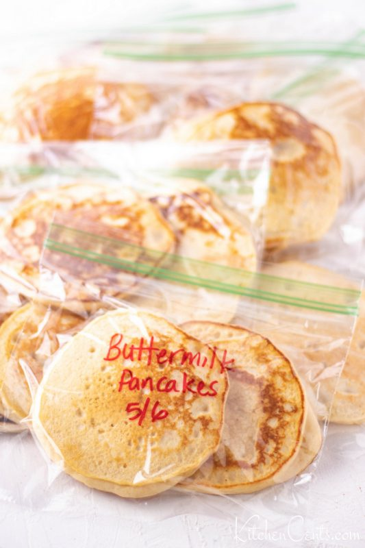 Freezer Friendly buttermilk pancakes prefect for busy mornings hotcakes recipe | Kitchen Cents