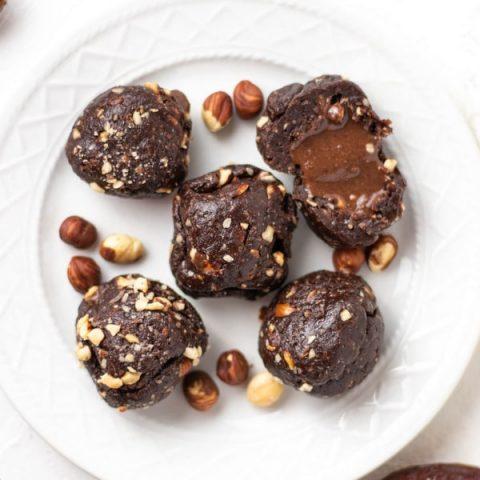 Easy Nutella Truffles Chocolate Hazelnut Balls | Kitchen Cents