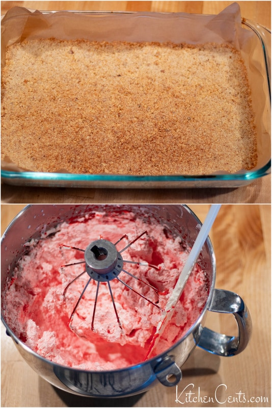 Make nut crust and strawberry mousse filling | Kitchen Cents