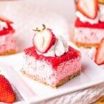 Keto Friendly Strawberry Mousse Bars | Kitchen Cents