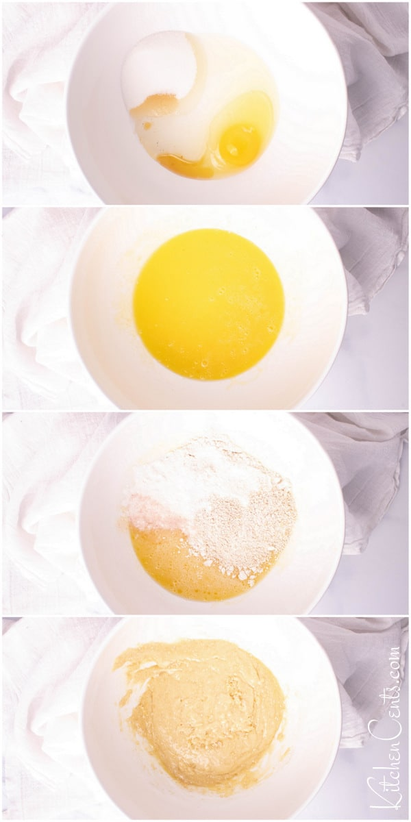 Batter for Gluten Free Lemon Blueberry Pancakes | Kitchen Cents