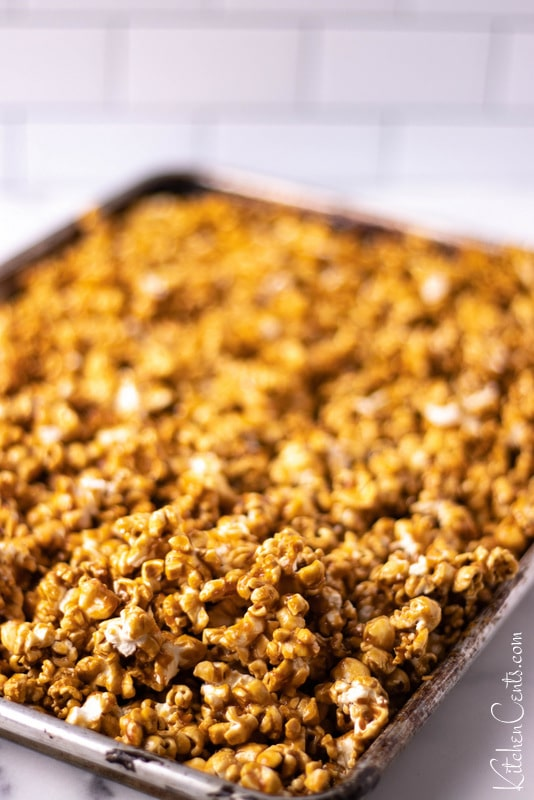 Butter Toffee Caramel Popcorn | Kitchen Cents