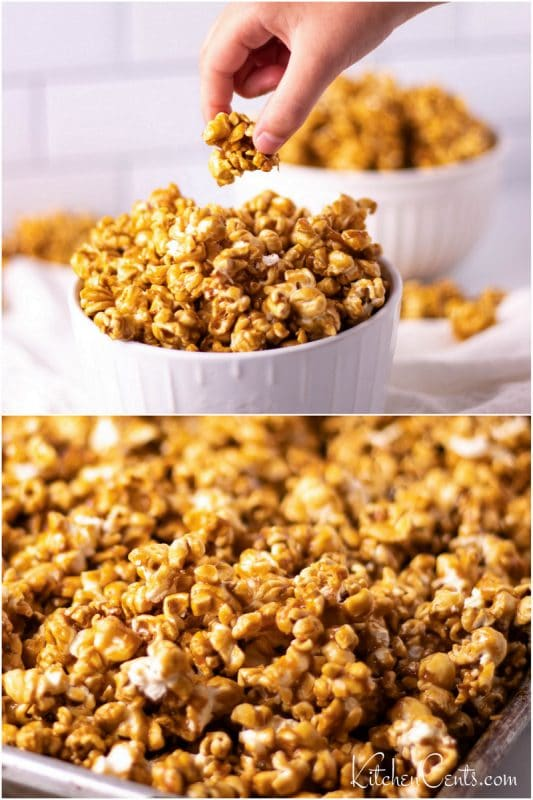Butter Toffee Caramel Popcorn Pin image | Kitchen Cents