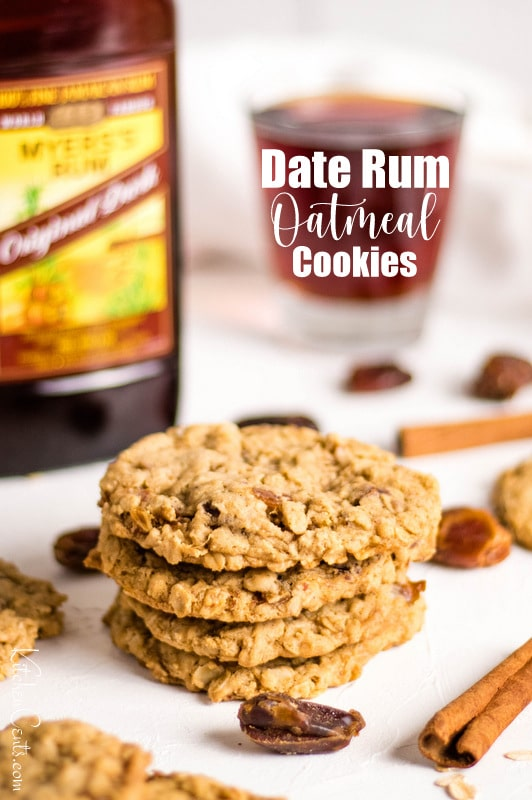 Rum Date Oatmeal Cookies perfect for Fall | Kitchen Cents